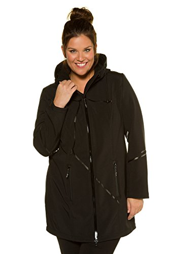 Women's Popken 714777 Jacket Softshell Long Size Black Plus Ulla Taq5UxwOO