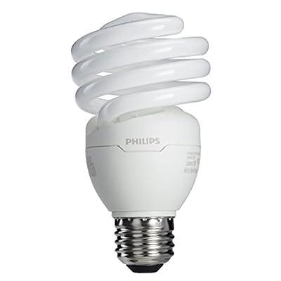 Philips 433557 23W 100-watt T2 Twister 6500K CFL Light Bulb, 4-Pack