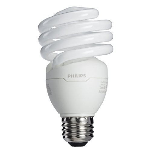: Philips 433557 23W 100-watt T2 Twister 6500K CFL Light Bulb, 4-Pack