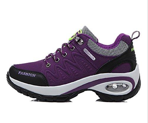 Huaihsu Zapatos deportivos de montaña para mujer Antideslizante Zapatos resistentes al desgaste Senderismo Zapatillas para damas Deportivos para correr Púrpura
