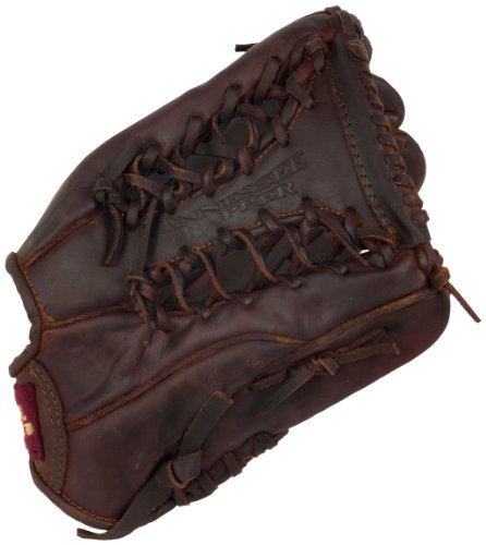 Old Time Baseball Mitt (Shoeless Joe Gloves Tennessee Trapper Brown Glove, 12 1/2-Inch, Right Handed)