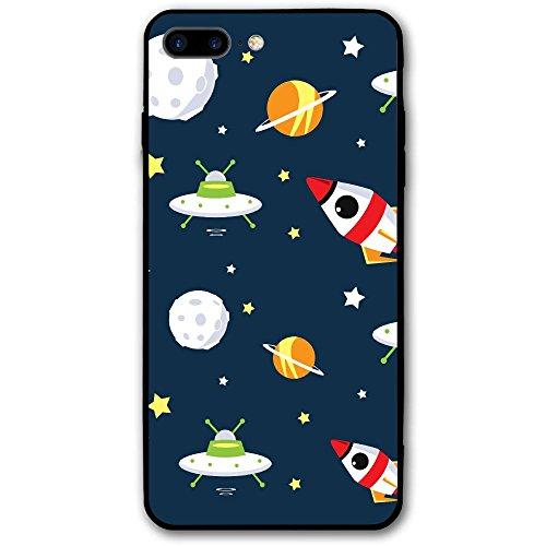 IPhone8 Plus Phone Case Space Star UFO (5.5 Inch) 3D Print Anti-Scratch Anti-Finger Cover Case Valentine's - Sunglasses Ufo