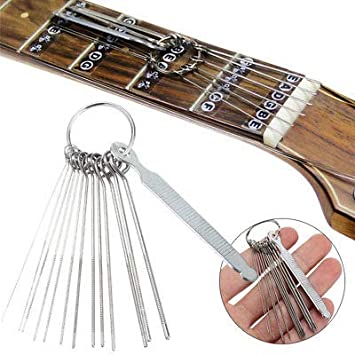 FidgetFidget Guitar Nut Slotting File Kit Saw Rods Slot Filing Luthier  Replace Repair Tools
