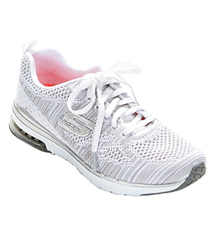 Skechers Air Infinity-Stand Out, Baskets Sportives Femme Blanc (Wsl)