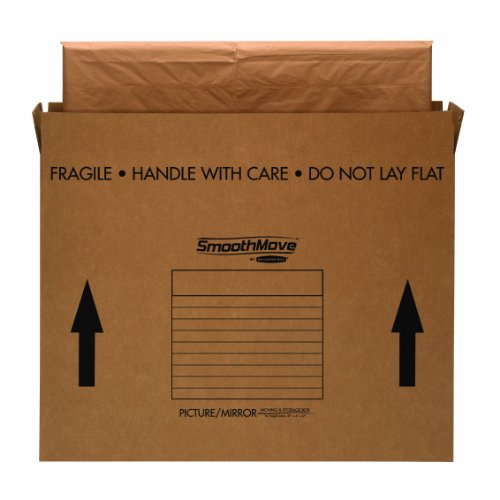 Bankers Box SmoothMove TV/Picture/Mirror Moving Box, Large, 48 x 4 x 33 Inches, 4 Pack (7711301) by Bankers Box