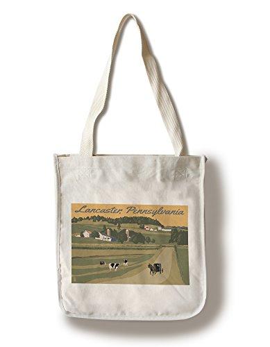 Lancaster, Pennsylvania - Amish Countryside (100% Cotton Tote Bag - Reusable, Gussets, Made in - Pennsylvania Lancaster Shopping