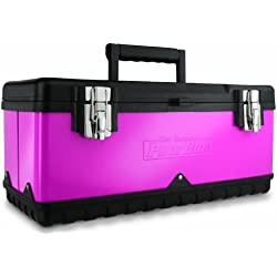 The Original Pink Box PB20MTB 20-Inch Steel Tool Box, Pink