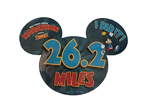 Disney Marathon Mickey Mouse 26.2 Miles 2019 Car Magnet -