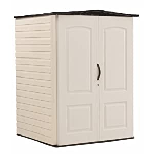Rubbermaid Roughneck Plastic Medium Vertical Storage Shed,106-Cubic Feet, FG5L2000SDONX