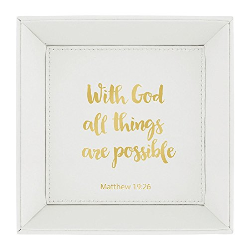 AT001 With God All Things Are Possible - Matthew 19:26 Tabletop Tray, 7.5''. by AT001