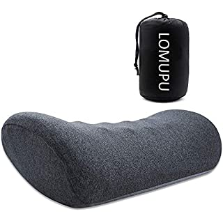 Lomupu Lumbar Pillow for Office Chair and Car Seat Back Support Cushion Designed Ergonomic Memory Foam Lower Back Support Pillow for Back Pain Relief with Skin Affinity Cover Gray
