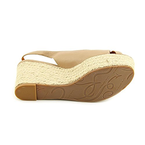 Sandals Spiga Size Womens Luciana UK Via Shoes Leather Nude 7 Wedge BqYx4d