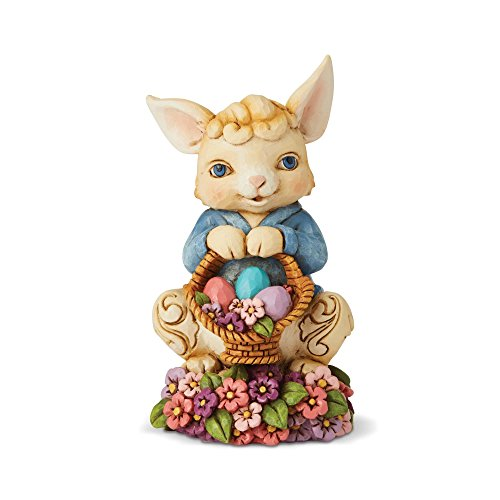 Jim Shore Spring - Enesco Jim Shore Heartwood Creek Pint Size Bunny with Basket
