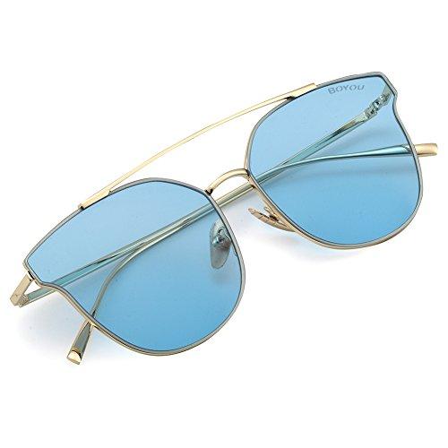 a2c3a69f7c BOYOU gafas de sol mujeres con protección UV400 completa brillaban de  vacaciones Durable Modelando