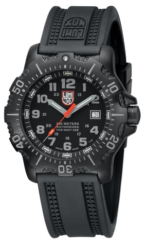 Luminox Sea Anu 4200 Black Dial Black Rubber Mens Watch 4221