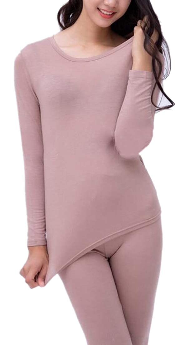 GenericWomen Thermal Underwear Set Waffle Knit Base Layer Thermals