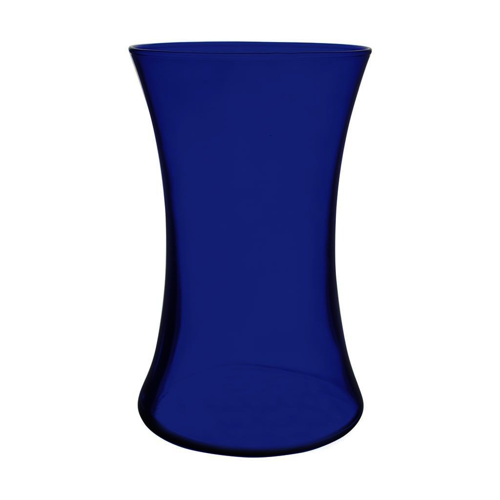 "Floral Supply Online 8"" Cobalt Blue Gathering Vase- Decorative Glass Flower Vase for Floral Arrangements, Weddings, Home Decor or Office."