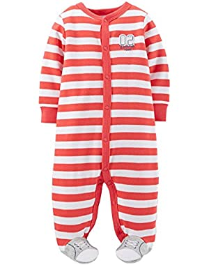 Carters Infant Boys 02 Daddys Team Footed Sleeper Sleep & Play Pajamas 9 Months!