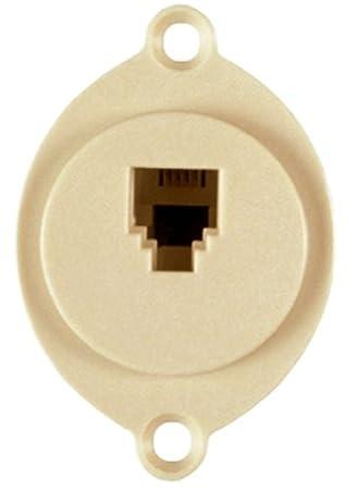 allen tel products at625f 4 single gang 1 port usoc wiring 6 rh amazon com Flush Mount Wheel Chocks flush mount input jack wiring