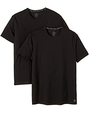 Calvin Klein CK One 2-Pack Crew-Neck Men's T-Shirts, Black