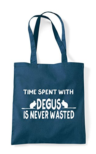Petrol Wasted Is Spent With Funny Tote Time Shopper Never Degus Bag 1v7nxq