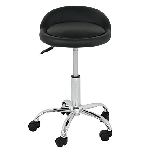 F2C Black Hydraulic Massage and Salon Stool Office Swivel Chair Stool with Backrest