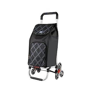ZfgG Carro De La Compra Plegable Negro De La Tri-rueda, Carro De La