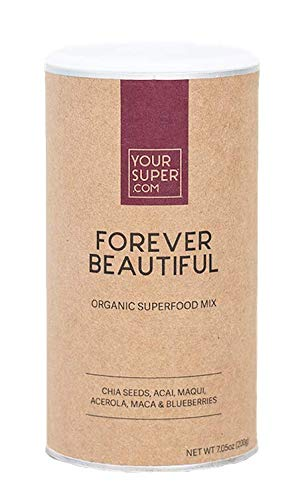 Your Super Foods Forever Beautiful Superfood Mix - Organic Vegan Anti-Aging Supplement - Powder Fruit Blend with Essential Vitamins, Minerals, & Antioxidants - Super Greens Smoothie for Hair Skin Nail