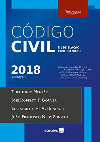 Código Civil e Legislação Civil em Vigor 2018