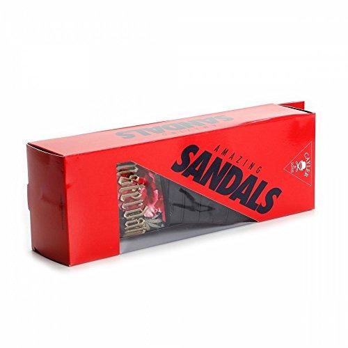 Cayler & Sons Sandales Homme A-DAM Noir Tulipe Camouflage Rouge