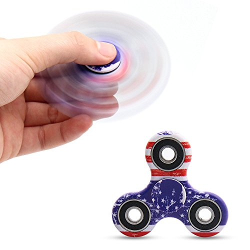 Yeahbeer Hand Fidget Spinner Toy Stress Reducer and Perfect For ADD, ADHD ,Finger Toy fidget work Ultra Fast Bearings (flag) - 2