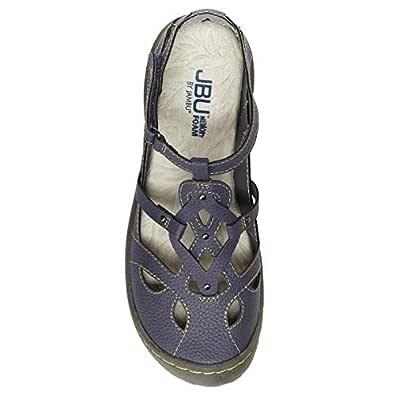JBU by Jambu Ladies' Sydney Sandal/Flat Sandals for Women Blue Size: 6.5 US