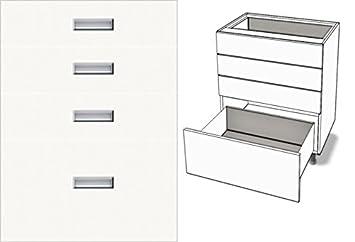 Premium-Ambiente EMD069 Unterschrank 4-Schubladen Soft ...