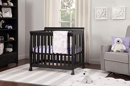 Davinci Kalani 4 in 1 Convertible Mini Crib and Twin Bed, Ebony
