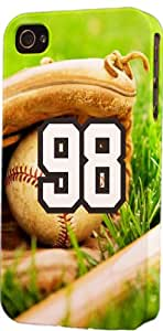 Baseball Sports Fan Player Number 98 Snap On Flexible Decorative iPhone 6 Case