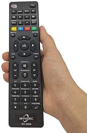 MYHGRC Mando Universal TV Apto para Sony/TCL/Hisense/LG/Sharp/Sanyo/Toshiba/Hitachi/Samsung/Philips/Panasonic Smart TV- No Requiere configuración Mando a Distancia Universal de TV: Amazon.es: Electrónica