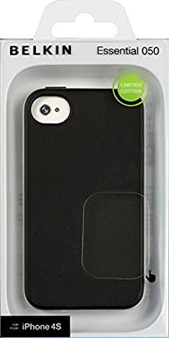 Belkin Essential Case for iPhone 4 / 4S (Blacktop / Overcast) (Iphone 4 Belkin Essential)