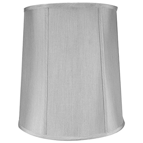 12x14x15 Softback Drum Lampshade Grey with Brass Spider fitter By Home Concept - Perfect for table and Desk lamps - Medium, Grey ()