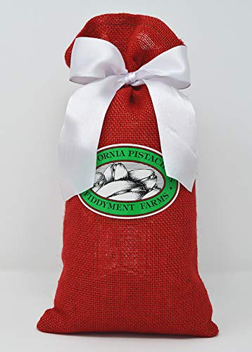 Fiddyment Farms 2 Lbs Lightly Salted Pistachios in Red Burlap Bag ()