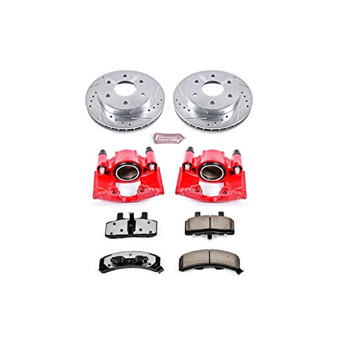 Dana 60 Brakes - Power Stop KC1970-36 Front Z36 Truck and Tow Brake Kit with Calipers