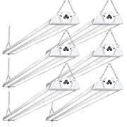 #LightningDeal 6 Pack Linkable LED Shop Lights for Garage BBOUNDER 4FT 40W 5000K LED Work Shop Light LED Utility Shop Light (300W Equivalent)