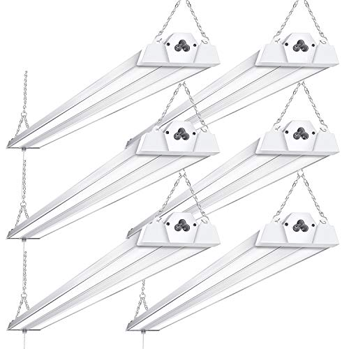 6 Pack Linkable LED Shop Lights for Garage BBOUNDER 4FT 40W 5000K LED Work Shop Light LED Utility Shop Light (300W Equivalent)