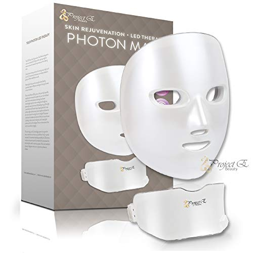 Project E Beauty 7 Colors LED Mask Face & Neck Photon Light Skin Rejuvenation Therapy Facial Skin Care Wireless Mask by Project E Beauty (Image #1)
