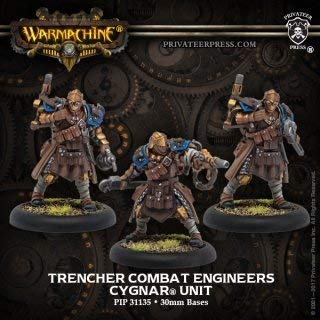 (Privateer Press Trencher Combat Engineers: Cygnar Unit (Resin/Metal) Miniature Game PIP31135)
