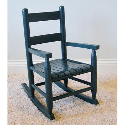 Slat Seat Child Rocker (Green) (Slat Seat)