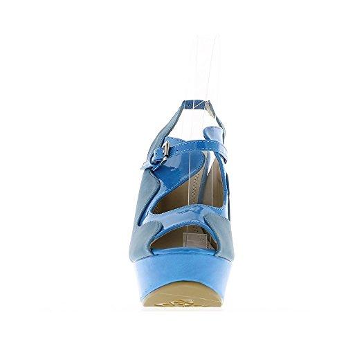Cammello e nero colore sandali tacco 13cm e piattaforma