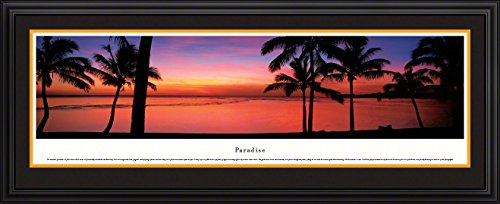 Icon Poster - Paradise - Blakeway Panoramas Icon Posters with Deluxe Frame