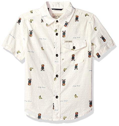 Lucky Brand Boys Short Sleeve Button Down Shirt