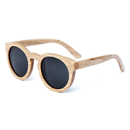 JapanX Bamboo Sunglasses & Wood Wooden Sunglasses for Men Women, Polarized Lenses with Gift Box – Wooden Vintage Wayfarer Sunglasses - Bamboo Wood Wooden Frame – New Style Sunglasses (A3 - Ebay Black Ray Bans