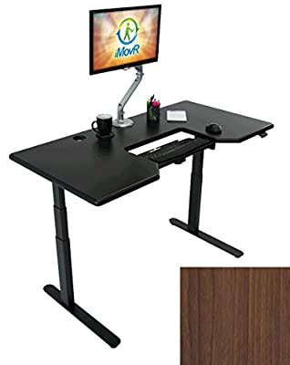 LANDER Adjustable Height Standing Desk, Black Base (Desktop in 10 Colors, 8 sizes)